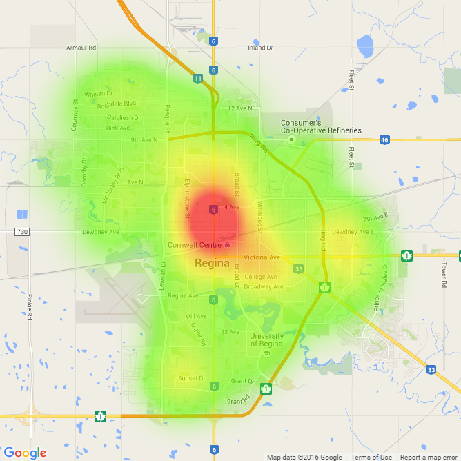 Community Crime Map Regina Police Service - Is there a color coded map of us crime